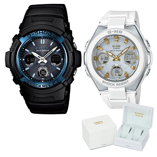 (ペア箱入りセット)(国内正規品)(カシオ)CASIO 腕時計 AWG-M100A-1AJF メンズ・MSG-W100-7A2JF レディース G-SHOCK&BABY-G(樹脂バンド 電波ソーラー アナデジ ペアウォッチ)(快適家電デジタルライフ)