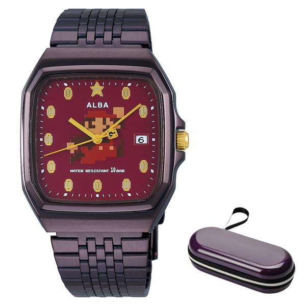 (時計ケースセット)(国内正規品)(セイコー)SEIKO 腕時計 ACCK420 (アルバ)ALBA メンズ レディース スーパーマリオコラボ「ファミコンマリオ」(ステンレスバンド クオーツ アナログ)(快適家電デジタルライフ)
