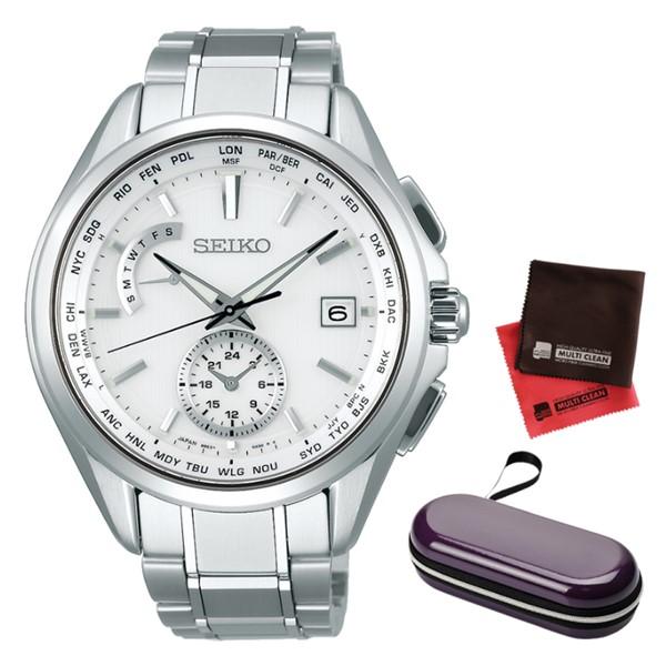 (時計ケース・クロスセット)(国内正規品)(セイコー) 腕時計 SEIKO SAGA283 (ブライツ)BRIGHTZ メンズ(チタンバンド 電波ソーラー 多針アナログ)(快適家電デジタルライフ)