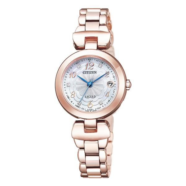 (シチズン)CITIZEN 腕時計 ES9422-52W (エクシード)EXCEED レディース ハッピーフライト 寒牡丹 限定モデル エコドライブ チタンバンド 電波ソーラー アナログ(国内正規品)(快適家電デジタルライフ)