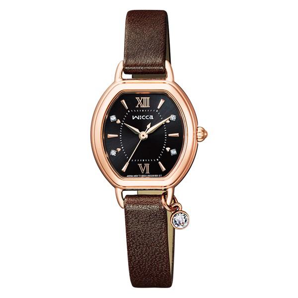 (シチズン)CITIZEN 腕時計 KP2-566-90 (ウィッカ)wicca レディース Sweet Collection 限定モデル 牛革バンド ソーラー アナログ(国内正規品)(快適家電デジタルライフ)