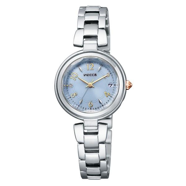 (シチズン)CITIZEN 腕時計 KS1-511-91 (ウィッカ)wicca レディース #ときめくダイヤ ステンレスバンド 電波ソーラー アナログ(国内正規品)(快適家電デジタルライフ)
