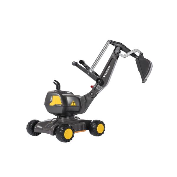 rolly toys(ロリートイズ) 乗用玩具 RT421152 ディガーVOLVO GREY ボルボ ショベルカー 乗り物 おもちゃ 車 乗れる 砂あそび 屋外 誕生日 プレゼント 男の子 3歳 4歳 5歳 (ラッピング不可)(快適家電デジタルライフ)