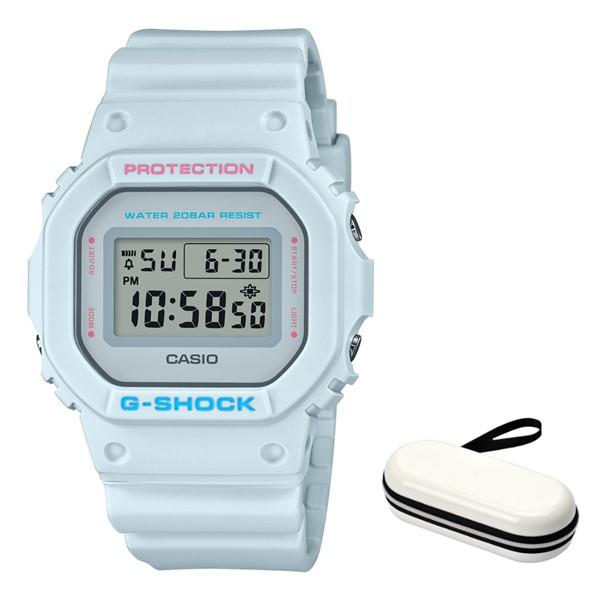 (時計ケースセット)(カシオ)CASIO 腕時計 DW-5600SC-8JF (ジーショック)G-SHOCK メンズ Spring Color 樹脂バンド クオーツ デジタル(国内正規品)(快適家電デジタルライフ)