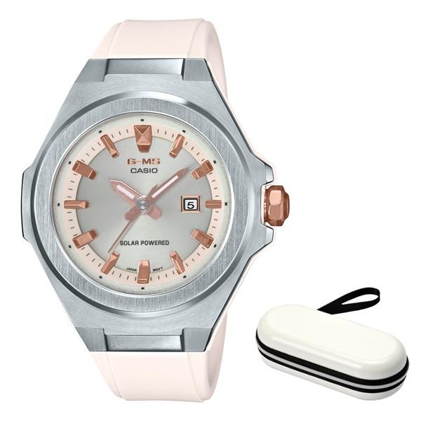 (時計ケースセット)(カシオ)CASIO 腕時計 MSG-S500-7AJF (ベビーG)BABY-G レディース G-MS 樹脂バンド ソーラー アナログ(国内正規品)(快適家電デジタルライフ)