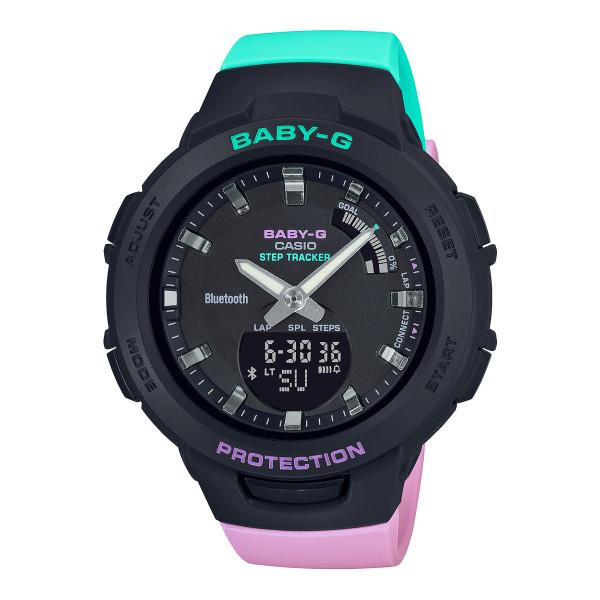 (カシオ)CASIO 腕時計 BSA-B100MT-1AJF (ベビーG)BABY-G レディース G-SQUAD Bluetooth搭載 樹脂バンド クオーツ アナデジ(国内正規品)(快適家電デジタルライフ)