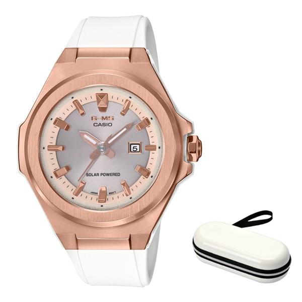 (時計ケースセット)(カシオ)CASIO 腕時計 MSG-S500G-7A2JF (ベビーG)BABY-G レディース G-MS 樹脂バンド ソーラー アナログ(国内正規品)(快適家電デジタルライフ)