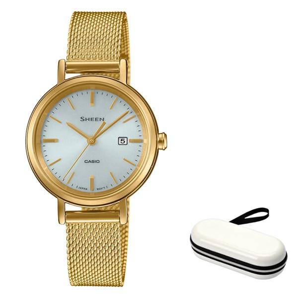 (時計ケースセット)(カシオ)CASIO 腕時計 SHS-D300GM-7AJF (シーン)SHEEN レディース ステンレスバンド ソーラー アナログ(国内正規品)(快適家電デジタルライフ)