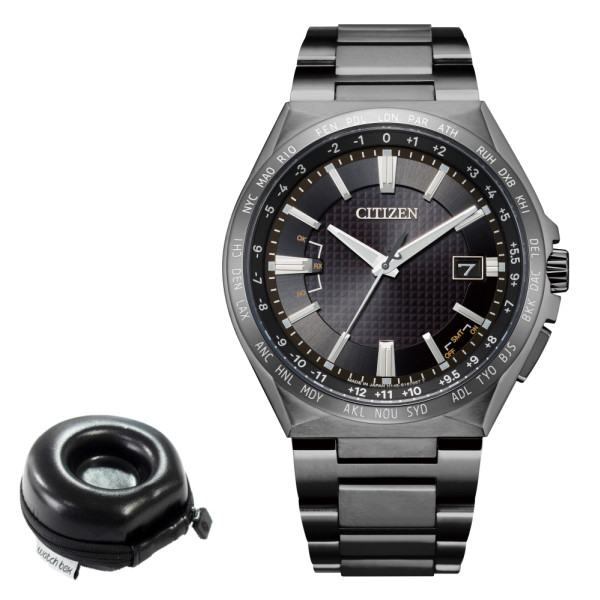 (時計ケース丸型セット)(シチズン)CITIZEN 腕時計 CB0215-51E アテッサ ATTESA メンズ エコドライブ電波 ダイレクトフライト ACT Line 電波ソーラー チタン アナログ(国内正規品)(快適家電デジタルライフ)