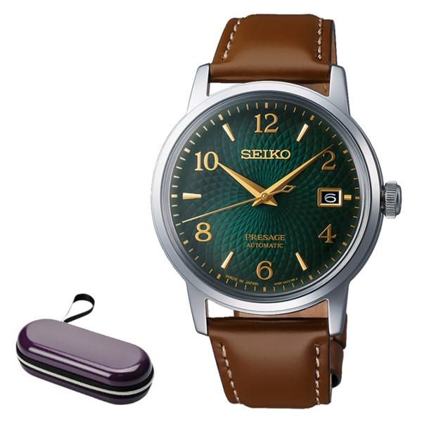 (時計ケースセット)セイコー SEIKO 腕時計 SARY167 プレザージュ PRESAGE メンズ ベーシックライン カクテルタイム 自動巻き(手巻付) 牛革バンド アナログ(国内正規品)(快適家電デジタルライフ)