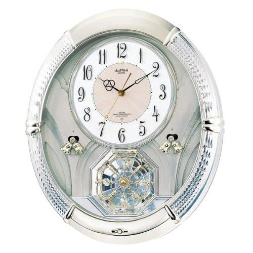 リズム時計 電波掛時計(アミュージングタイプ) からくり・アミューズ スモールワールドルミエル 4MN430RH18【快適家電デジタルライフ】