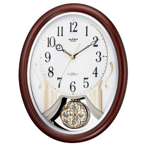 リズム時計 電波掛時計(アミュージングタイプ) からくり・アミューズ スモールワールドストリーム 4MN510RH06【快適家電デジタルライフ】