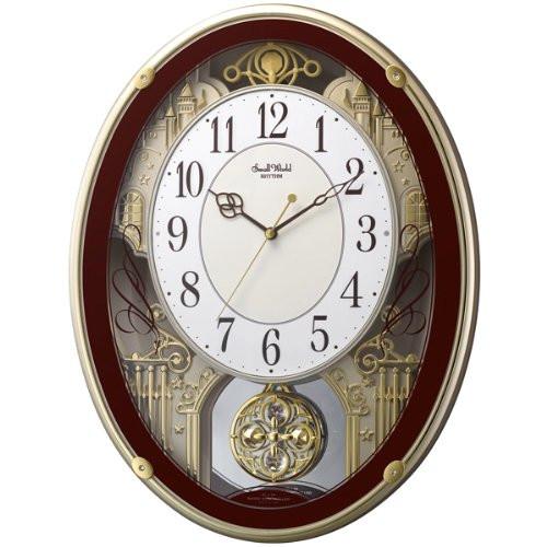 リズム時計 電波掛時計(アミュージングタイプ) からくり・アミューズ スモールワールドプラウド 4MN523RH06【快適家電デジタルライフ】