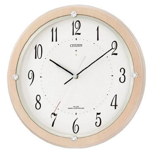 リズム時計 CITIZEN(シチズン)電波掛時計 サイレントソーラーM798 4MY798-007【快適家電デジタルライフ】