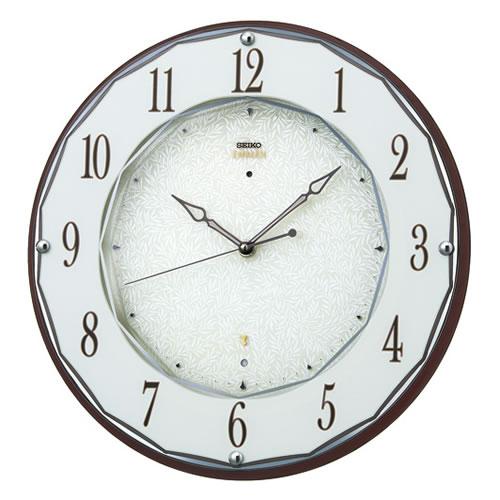 セイコークロック (SEIKO) 【電波掛時計】 EMBLEM(エムブレム) HS524B (ブラウン)【代引き手数料・送料無料】【快適家電デジタルライフ】