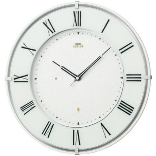 セイコークロック (SEIKO) 【電波掛時計】 EMBLEM(エムブレム) HS542W(ホワイト)【代引き手数料・送料無料】【快適家電デジタルライフ】