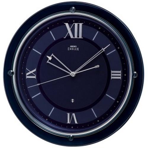 セイコークロック (SEIKO) 【衛星電波掛時計】 EMBLEM(エムブレム) HS549L(ネイビー)【代引き手数料・送料無料】【快適家電デジタルライフ】