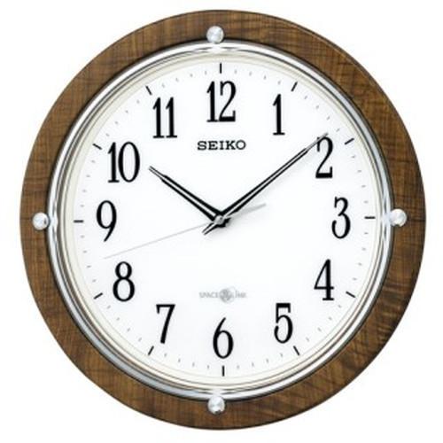 セイコークロック (SEIKO) 【衛星電波掛時計】 「セイコースペースリンク」GP212B(茶木目模様)【代引き手数料・送料無料】【快適家電デジタルライフ】