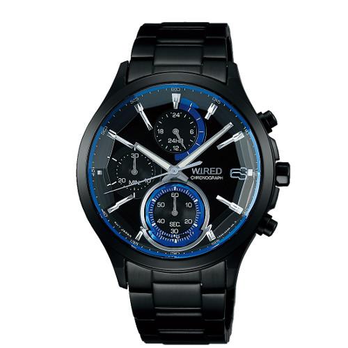 【国内正規品】【腕時計】 AGAV122 WIRED[ワイアード]【REFLECTION リフレクション】【クオーツ 多針アナログ ステンレスバンド メンズ ブラック】【快適家電デジタルライフ】