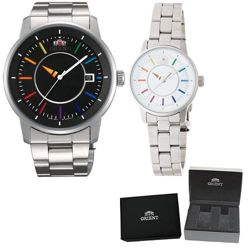 【ペアBOX入りセット】ORIENT(オリエント) 【腕時計】 WV0761ER&WV0011NB STYLISH AND SMART[スタイリッシュ&スマート] 【DISK ディスク】【快適家電デジタルライフ】