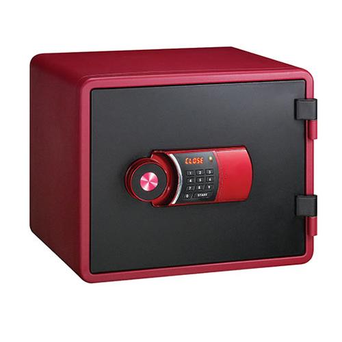 【代引不可】【メーカー直送】エーコー 【テンキー式 小型耐火金庫】 YES Color Safe YESM-020RD 設置費込!【ラッピング不可】【快適家電デジタルライフ】
