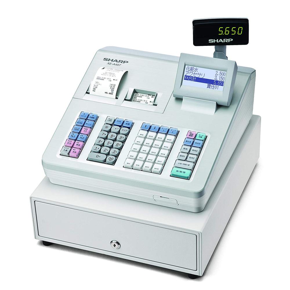 シャープ【電子レジスター】XE-A407W [税率変更マニュアル付き]【ラッピング不可】【快適家電デジタルライフ】