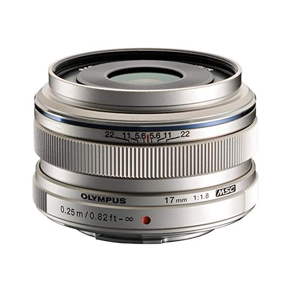 オリンパス 大口径広角レンズ M.ZUIKO DIGITAL 17mm F1.8 シルバー 【マイクロフォーサーズ用】【快適家電デジタルライフ】