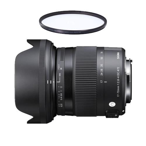 (レンズ保護フィルター付)シグマ 17-70mm F2.8-4 DC MACRO OS HSM キヤノン用 Contemporaryライン 標準ズームレンズ (快適家電デジタルライフ)