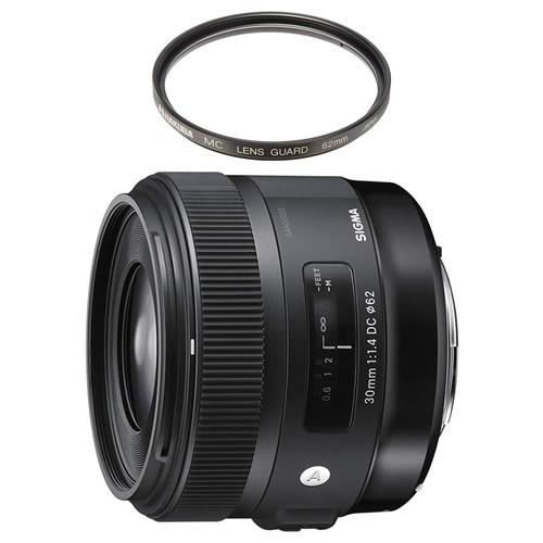 (レンズ保護フィルター付)シグマ 30mm F1.4 DC HSM ニコン用 (Fマウント) Artライン 大口径標準レンズ (快適家電デジタルライフ)