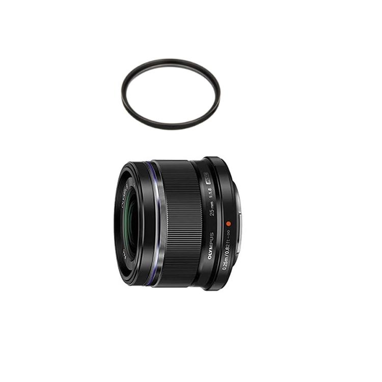 【レンズ保護フィルター付】 オリンパス 大口径標準レンズ M.ZUIKO DIGITAL 25mm F1.8 ブラック 【マイクロフォーサーズ用】【快適家電デジタルライフ】