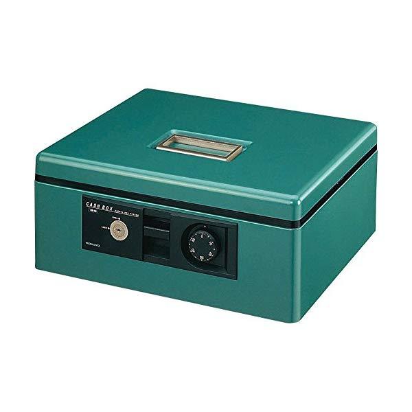 KOKUYO 手提げ金庫 CB-B11G [A4・緑/シリンダー錠・ダイヤル錠・ブザー付]【快適家電デジタルライフ】