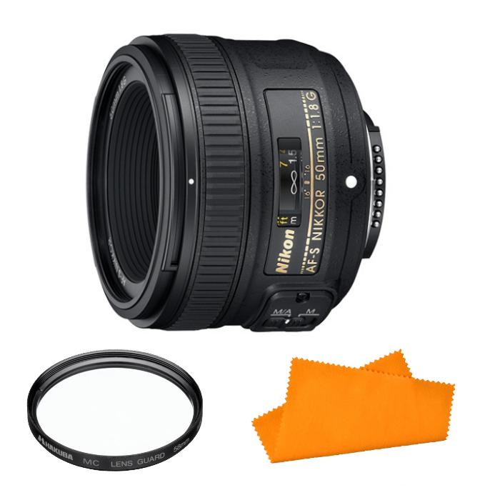 【★レンズフィルター&お手入れクロスセット!】Nikon 標準単焦点レンズAF-S NIKKOR 50mm f/1.8G【快適家電デジタルライフ】
