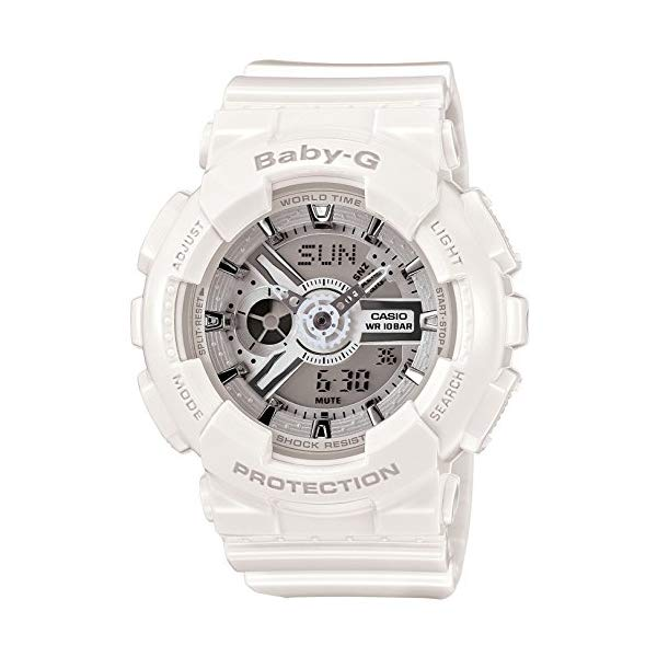 【国内正規品】 CASIO(カシオ) 【腕時計】 BA-110-7A3JF BABY-G[ベビーG ベビージー ベイビージー] ビッグケースシリーズ 【レディース ホワイト 白 アナデジ】【快適家電デジタルライフ】