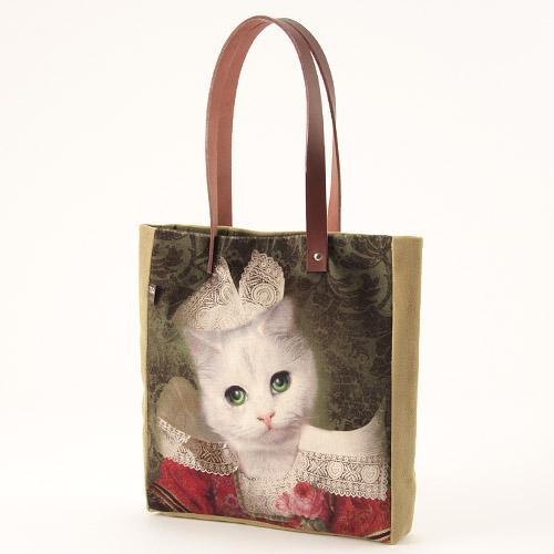 オブジェ・インテリア・アブラカダブラ トートバック ねこのミミ[Objet d' Interieur Abracadabran]猫・ねこ・ネコ・ポシェット・ポーチ・バック
