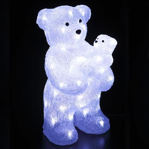 LEDライト クリスタルモチーフペアベア[友愛玩具]イルミネーション・デコレーション・LED