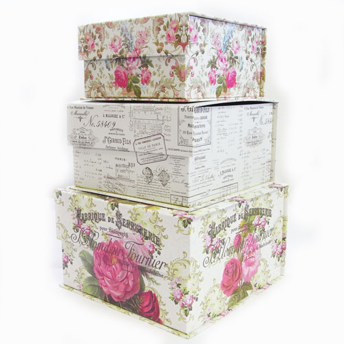 Tab BOX Fabric Rose [Tri Coastal Design] Tricot Tal Design Storage Case  Gift BOX, Interior