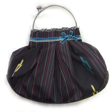 chidorii プリーツバッグ 黒[chidorii ]ちどり・Chie Sakai着物・和装・洋装・浴衣・かばん