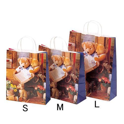 ★プレゼントやラッピングに! ラッピング用 手提げ紙袋 ハニーベア Sサイズ[その他]紙袋・ラッピング資材・ギフト