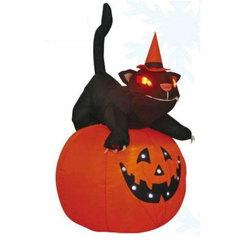 エアーパンプキン猫 巨大かぼちゃネコライト・バルーンハロウィン飾り・店舗ディスプレー