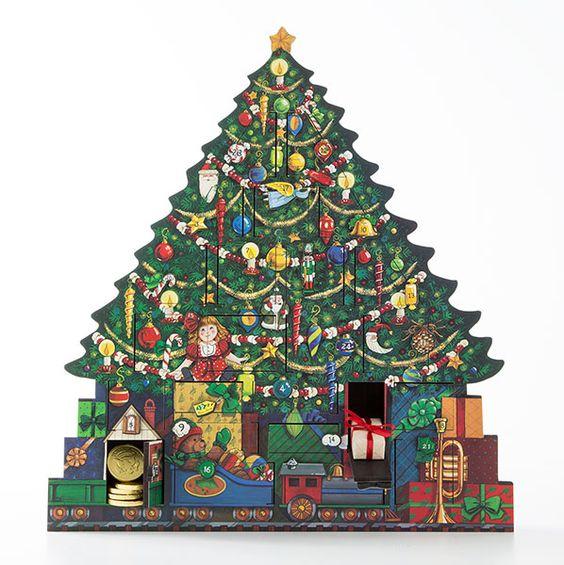 Kaderia Wooden Advent Calendar Christmas Tree Byers Choice Import