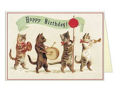1672 CavalliniCo Birthday Card CATS Coe Cats