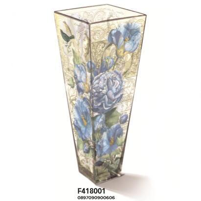 限定品 花瓶 BLUE ROSASOFIA[FRINGE STUDIO]花瓶 フラワーベイス 花器鳥・バラ・花柄