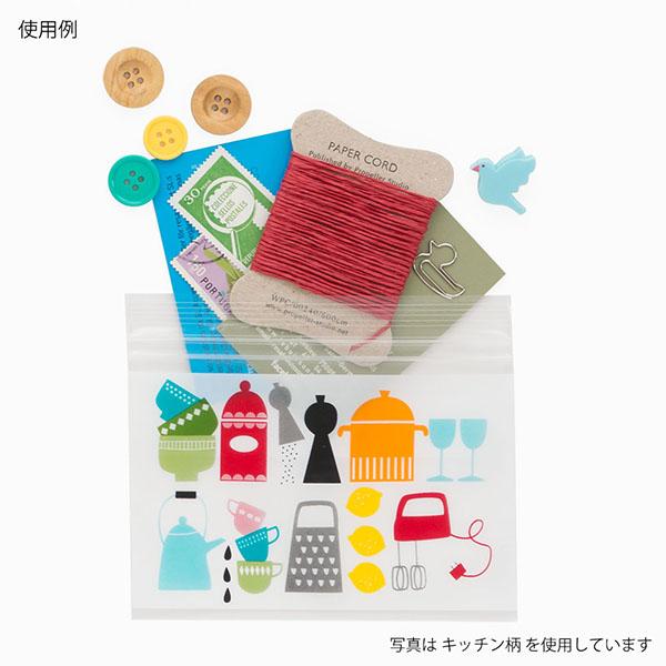 Food hygiene law standardized goods zip bag S/M/L North Europe design floret pattern zip lock zip bag[midori]green Company, subdivision bag, preservation bag, handmade cake