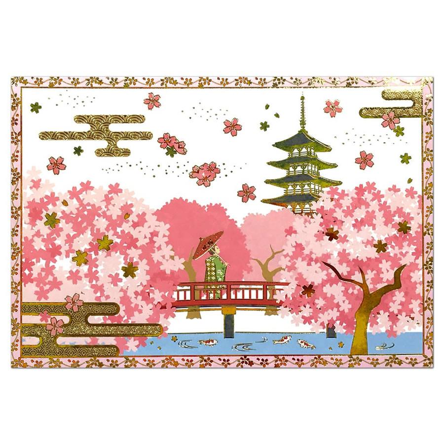 Kaderia A Popup Card Gold Leaf Push Cherry Tree And Sanrio Sanrio