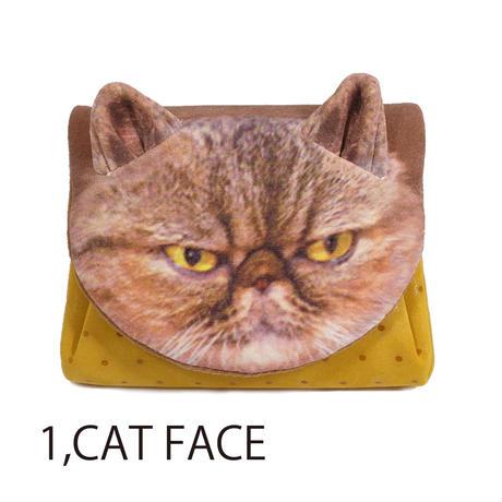 カーマイン アニマルフェイスミニウォレットキャットフェイス とらねこ[carmine]日本製・財布ねこ・猫・ネコ・cat