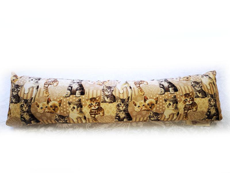 限定フランス製ロングクッション 猫いっぱい 25x90cmフランス製ゴブラン織り[ART de LYS]アールドリス猫柄