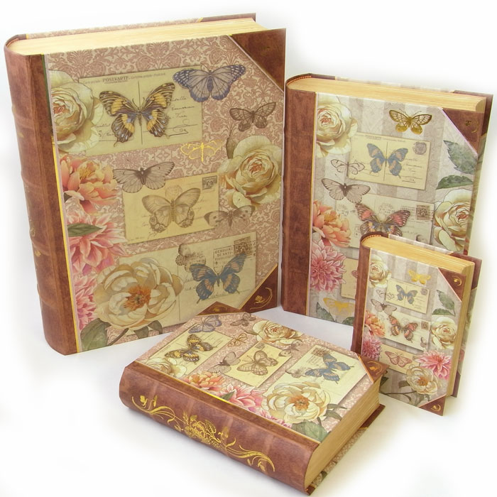 Punch Studio Limited Article Book Type Big Box4 Point Set Beige Butterfly Punch Studio 912829 Butterfly Butterfly An Accessory Case A Lapping