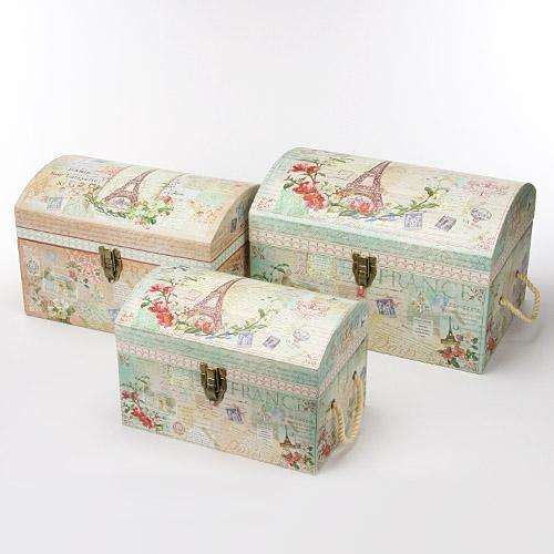 Limited Edition Treasure Chest BOX Set Paris Botanical Dreams [PunchStudio]  Punch Studio Trunk Storage