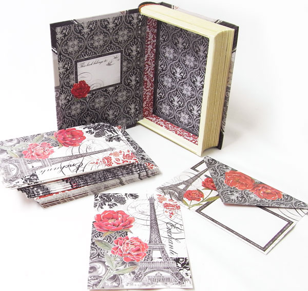 Kaderia punch studio end book type card set bell france 20 a card and 20 sets of envelopes entering box of the book type the prettiness that i want to collect the card is bright by a night print bell france m4hsunfo