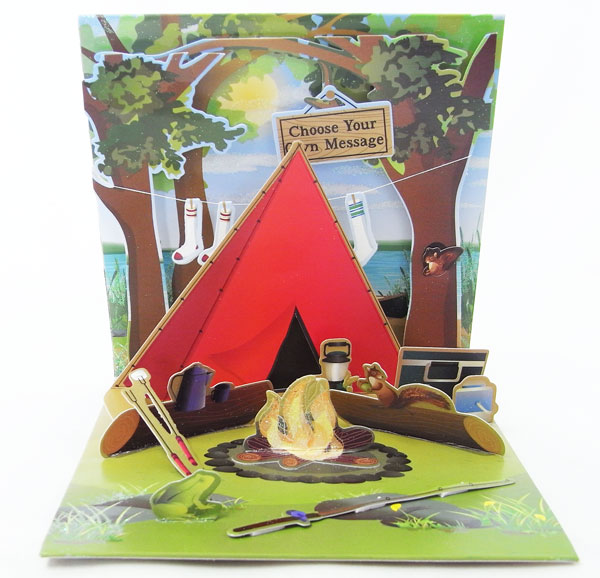 Kaderia Popup Greeting Card Camping Up With Papertreasures